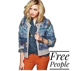 Free People Nordic Party Cardi Fuzzy Sweater